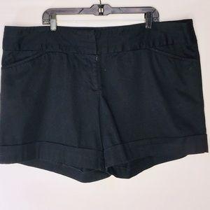 Torrid Plus Size 22 Black Cuff Shorts